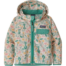Patagonia Baggies Takki Lapset, birds in the lotus/prima pink
